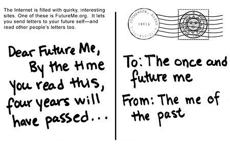 Site lets you send letter to future self — The Bowdoin Orient