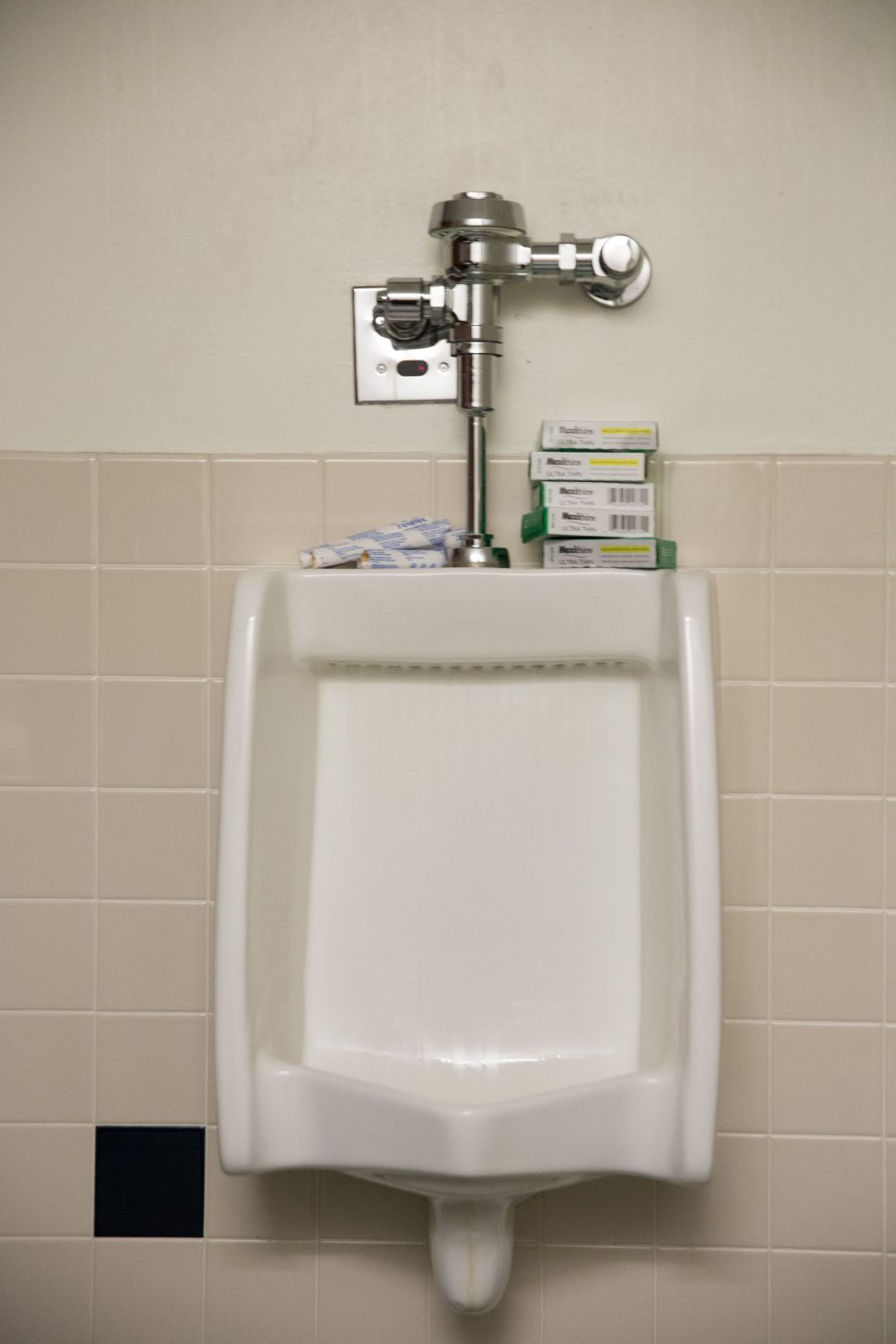 Feces found in men's room used tampon box – The Bowdoin Orient